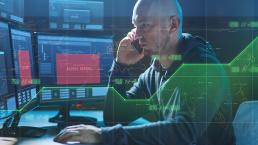 cybercriminal on a computer