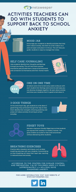 activities teachers can do with their students to support back to school anxiety
