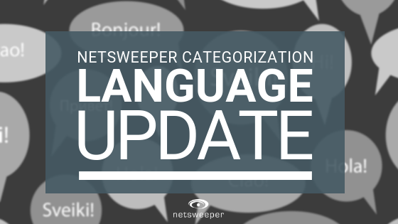 Netsweeper Categorization Language Updates September 2018